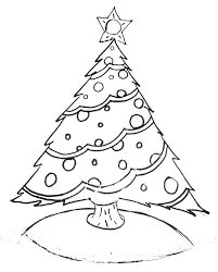 Coloring Pages Big With Free Printable Cute Christmas Tree For Lights Decoration