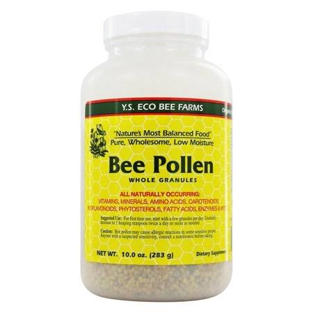 Y.S. Organic Bee Farms Bee Pollen Low Moisture Whole Granulars - 283g