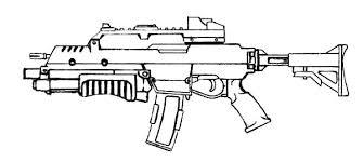 Pin Machine Gun Clipart Coloring Picture 11