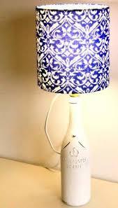 DIY Lampshade Making 101 Fleur De Lis Fabric For A Wine Bottle