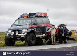 Broken Down Björgunarsveitin Search And Rescue Truck In Iceland ...