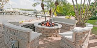 Outdoor Fireplace Photo Gallery & Design Ideas - Tampa Bay Area Red Ember San Miguel Cast Alinum 48 In Round Gas Fire Pit Chat Exteriors Awesome Backyard Designs Diy Ideas Raleigh Outdoor Builder Top 10 Reasons To Buy A Vs Wood Burning Fire Pit For Deck Deck Design And Pits American Masonry Attractive At Lowes Design Ylharriscom Marvelous Build A Stone On Patio Small Make Your Own