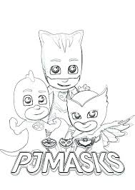 Pj Mask Coloring Pages Gekko Of Masks Images About
