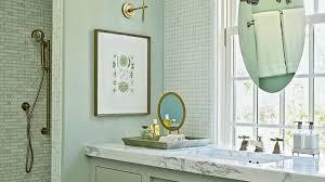Bathroom Mosaic Mirror Tiles by Beach House Bathrooms Coastal Living