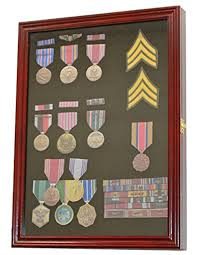Medal Pin Patch Insignia Ribbon Display Case Cabinet Shadow Box Wall Frame Lockable MPC01