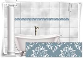 medianlux fliesenaufkleber bordüre fliesen aufkleber vintage nostalgie retro bad wc küche 16 stück 20x5 2cm bxh