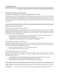 Sample Resume For Executive Assistant Position Administrative Samples Of Resumes Adminis