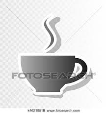Cup Of Coffee Sign Vector New Year Blackish Icon On Transparent Background With Transition