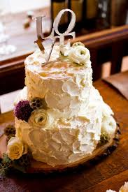 Rustic Wedding Cake With Buttercream IN Photography Beaver Creek Love It Minus The Topper