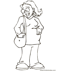 Mothers Day Coloring Page Expecting A Baby