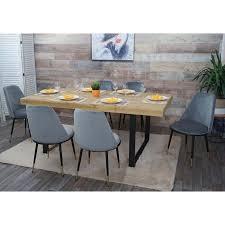 6x esszimmerstuhl hwc h28 stuhl küchenstuhl metall grau schwarze beine samt