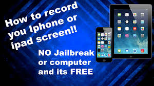 How to record your Iphone or ipad screen FREE ios 7 8 9 10 all