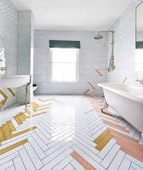 17 Bathroom Tile Ideas That Are Anything But Boring | Freshome.com 2019 Tile Flooring Trends 21 Contemporary Ideas The Top Bathroom And Photos A Quick Simple Guide Scenic Lino Laundry Design Vinyl For Traditional Classic 5 Small Bathrooms Victorian Plumbing How I Painted Our Ceramic Floors Simple 99 Tiles Designs Wwwmichelenailscom 17 That Are Anything But Boring Freshecom Tiled Showers Pictures White Floor Toilet Border Shower Kitchen Cool Wall Apartment Therapy