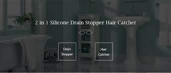 Bathroom Drain Hair Stopper Target by 2 In 1 Silicone Drain Stopper Hair Catcher 1 7 Online Shopping