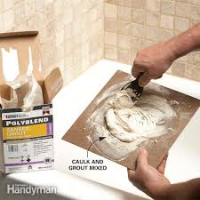 Polyblend Sanded Ceramic Tile Caulk Dry Time by Matching Grout Colors And Caulk Colors Family Handyman