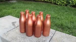 hochzeit deko 7 flaschen blumenvase bronze