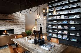 View In Gallery Industrial Style Bulb Lighting Above The Small Dining Space