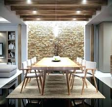 Stone Wall In Dining Room Accent Living Inspiring