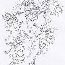 The Winx Club Girls Coloring Pages