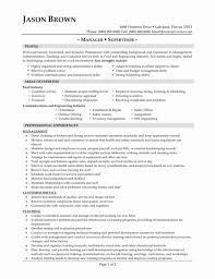 Resume Templates For Restaurants Best Of Restaurant Manager