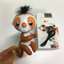 Record Your Speaking Cute Colorful Finger Sloth With Recording Box Charger Monkey Electronic