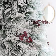 Slim Pre Lit Christmas Tree 75 by Belham Living Flocked Pine Needle Pre Lit Christmas Tree With