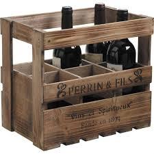 caisse a vin en bois caisse à vin en bois 6 bouteilles achat vente porte bouteille