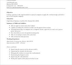 Construction Worker Resume Sample For Superintendent Examples Of Resumes Curriculum Vitae