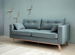 3 sitzer sofa im skandinavischen stil eisblau maisons du monde