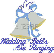 Celebrate love and wedding bells with this lovely design of bows ribbons and a white