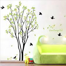 Tree Wall Decor Ideas by My Lime Orange Tree Wall Art Mural Wall Decal Sticker Green Tree