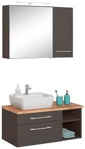 held möbel badmöbel set davos 3 tlg spiegelschrank mit regal kaufen otto