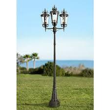 casa marseille 100 h black outdoor 3 light post light 95618