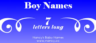 Long list of boy names that are 7 letters long Each name links to