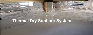 Thermaldry Basement Floor Matting Canada by Thermaldry Subfloor System The Flooring Lady