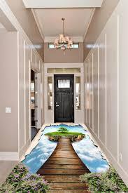 3d Epoxy Flooring For Living Room Flying Island Theme