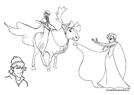 Coloring Page Frozen Animation Movies 47