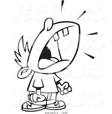 Vector Of A Cartoon Crying Boy Throwing Temper Tantrum