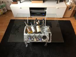 wohnzimmertisch v8 motor dictum handwerksgalerie