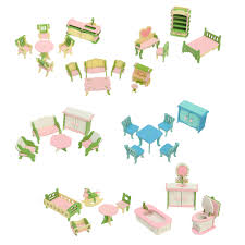 Plum Tillington Wooden Dolls House With Dolls House Accessories Fruugo