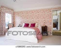 chambre toile de jouy banque de photo toile de jouy papier peint et rideaux