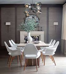 Gray Dining Room With Lively Plant Centerpiece