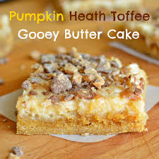 Pecan Pumpkin Bars Paula Deen by Pumpkin Heath Toffee Gooey Butter Cake A Bajillian Recipes