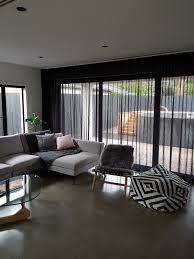 Brylane Home Grommet Curtains by Black Sheer Curtains Alondra Chevron Semisheer Curtain Panels Set