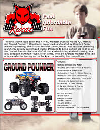 Ground Pounder 1/10 Scale Electric Monster Truck (Blue) | The RC Edge Traxxas Xmaxx 16 Rtr Electric Monster Truck Wvxl8s Tsm Red Bigfoot 124 Rc 24ghz Dominator Shredder Scale 4wd Brushless Amazing Hsp 94186 Pro 116 Power Off Road 110 Car Lipo Battery Wltoys A979 24g 118 For High Speed Mtruck 70kmh Car Kits Electric Monster Trucks Remote Control Redcat Trmt10e S Racing Landslide Xte 18 W Dual 4000 Earthquake 8e Reely Core Brushed Xs Model Car Truck