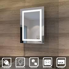 quavikey led spiegelschrank 63x65cm badezimmer