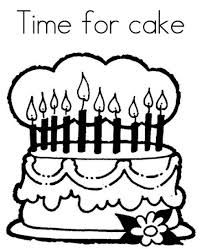 Time For Birthday Cake Coloring Page
