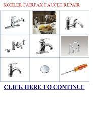 Kohler Fairfax Bathroom Faucet Leak by Kohler Fairfax Faucet Repair Kohler Fairfax