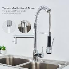 auralum wasserhahn küche design wasserhahn küche küchenarmatur mit brause ausziehbar 360 schwenkbereich chrom