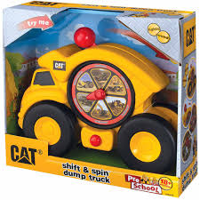 Toysmith Caterpillar Shift And Spin Dump Truck, Cat - Walmart.com